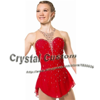 2016  Hot Sales Figure Ice Skating Dresses For Girls With Spandex New Brand Figure Skating Competition Dress DR2549