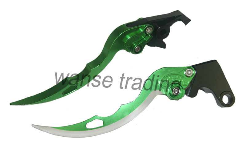 CNC Brake Clutch Levers Blade Green For 2009-2015 2014 2013 2012 2011 2010 Kawasaki NINJA 650R Versys650 ER-6F ER6F ER-6N ER6N(China (Mainland))