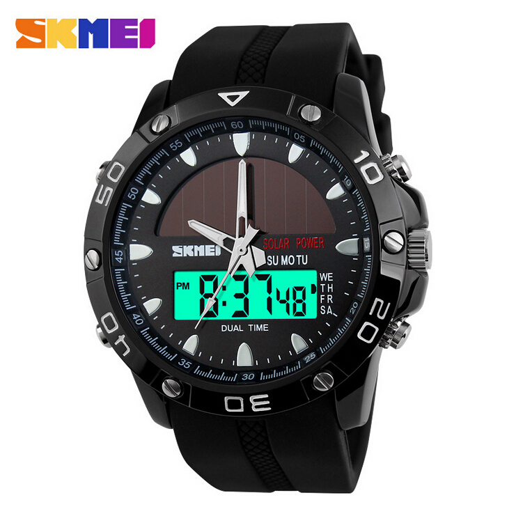 skmei mens sports watches top brand luxury solar energy