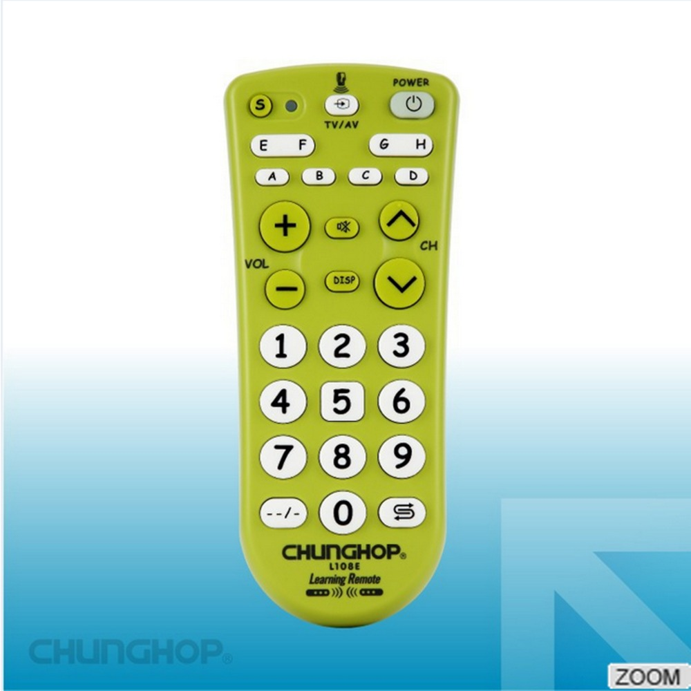 1pcs Combinational Universal learning Remote Control controller Chunghop L108E For TV/SAT/DVD/CBL/DVB-T/AUX big button(China (Mainland))