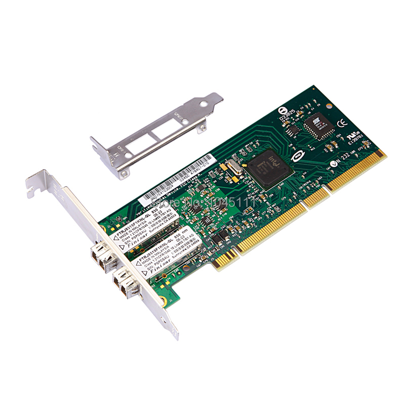DIEWU 82545MF PCI-X Gigabit Fiber Network Card NIC w/ intel82545GM/EM PWLA8490MF Single-port Multi-mode Fiber Module