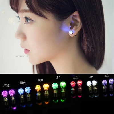 2015 heat cool stylish unique design earring, LED lights earrings lit Bling earrings nightclub dance accessories women E2102(China (Mainland))