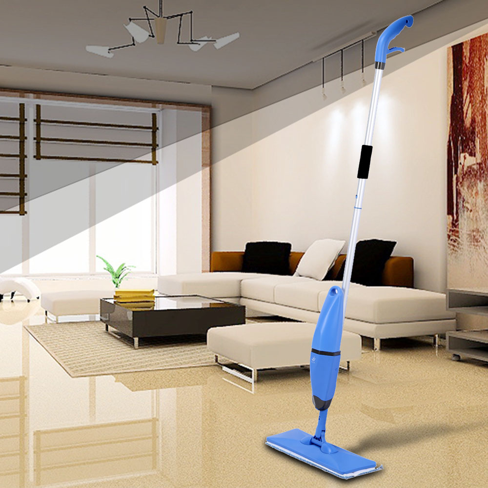 2 in 1 Household Spray and Scrubbing Mop Microfiber Magic Flat Mop Floor Sweepers One-handed Handheld Swob Rotating Glass Mops(China (Mainland))