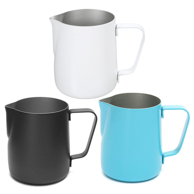 4 Colors 350ML Thick Stainless Steel Coffee Espresso Frothing Pitcher Milk Latte Art Jug Cup Pitcher Blue/White/Black/Gold(China (Mainland))
