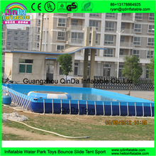 High quality Outdoor metal frame pool/above ground metal swimming pool rectangular steel frame pool(China (Mainland))
