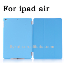 bracket matte case for ipad air thin cover holster for ipad air ipad5 sleep function(China (Mainland))