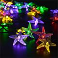 Christmas Solar Lights 20ft 30 LED 8 Modes Starfish Solar Fairy String Lights for Tree Outdoor