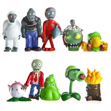Buy 10pcs/lot PVZ Plants vs Zombies Figures 5-6cm Plants Zombies PVC Action Figures Collection Toys Boy Gifts for $14.32 in AliExpress store