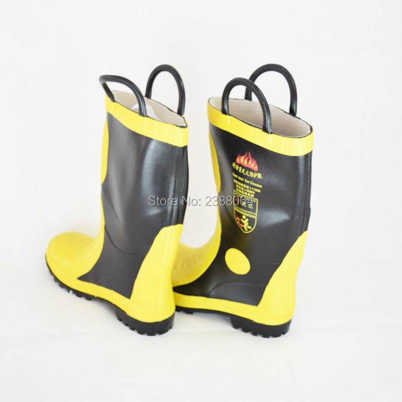 2017 Steel Toe Steel Mid Sole Rubber EN Approved Slip resistant Fireproof fire safety boots