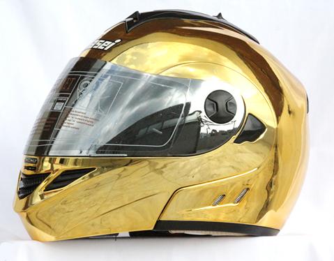 Mary Star children electric car helmet motorcycle helmet MASEI expose visor 822 gold plating(China (Mainland))