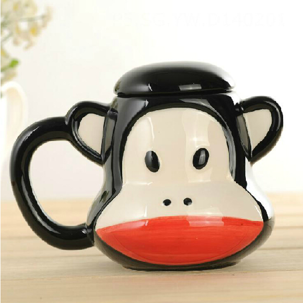 I Love Monkey Ceramic Coffee Mug Cup Fashion Cartoon Barker Cup Promotion Gift SH795(China (Mainland))