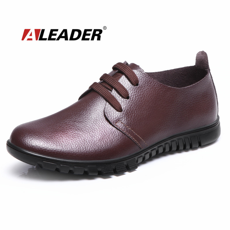 leather shoes casual 2015 autumn fashion lace up