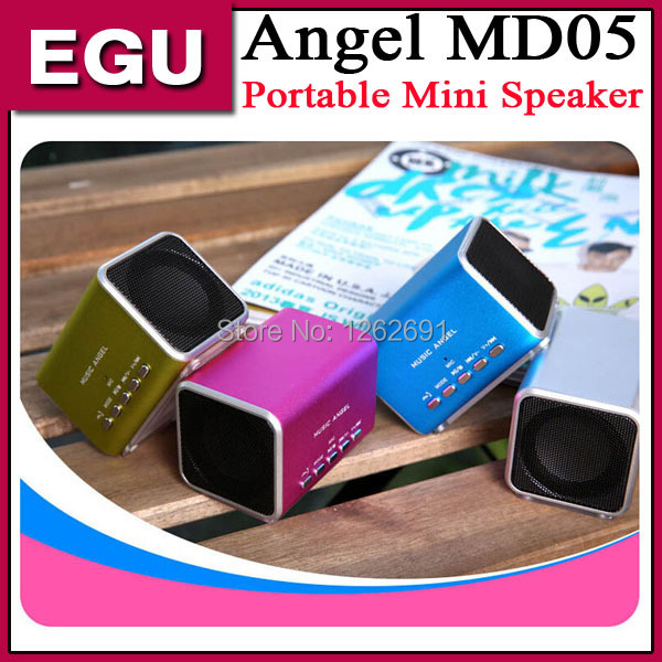 Music Angel MD05 Protable Mini Speaker Loudspeaker For iPhone6 plus 5.5 inch Tablet PC Music Player with Micro SD TF USB slot A(China (Mainland))