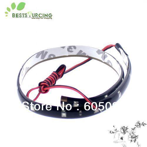 EMS/DHL free shipping wholesale 150pcs 30CM 15 LED 3528 SMD Lamp String Waterproof Flexible Car Soft Light Strip