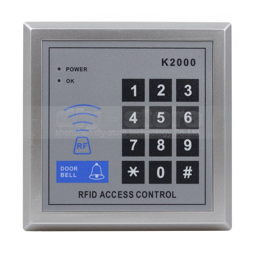 Door Access Control Keypad RFID ID Cards Proximity Reader for House / Office / Home Improvement(China (Mainland))