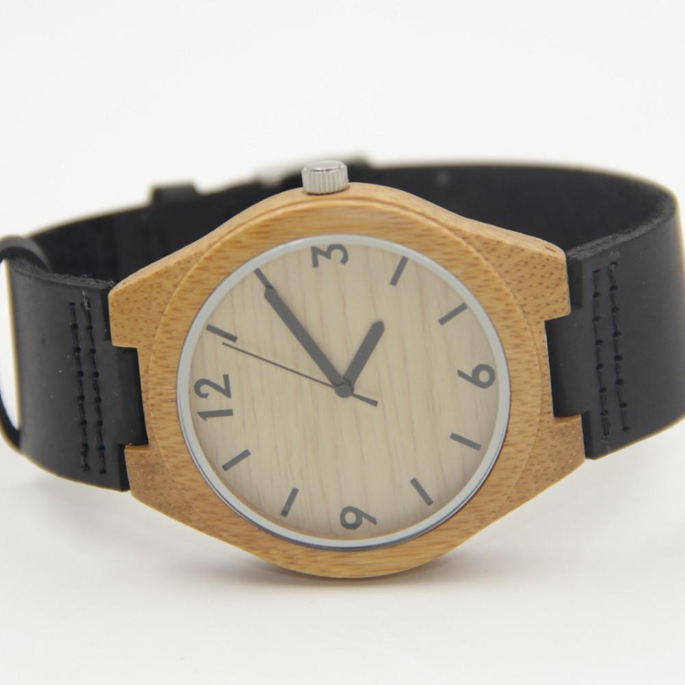 Горячий Продавать Японский MIYOTA Движение Wristwatche Натуральная Кожа Бамбук Деревянные Часы Для Мужчин И Женщин Браслет Творческий