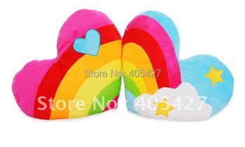 192 christmas easter day gift  rainbow heat carton pair pillow/cushion with filling freeshipping