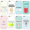 Fashion Mr Wonderful Cartoon Phone Cases Transparent Hard Plastic Back Shell Cover For iPhone 5 5S