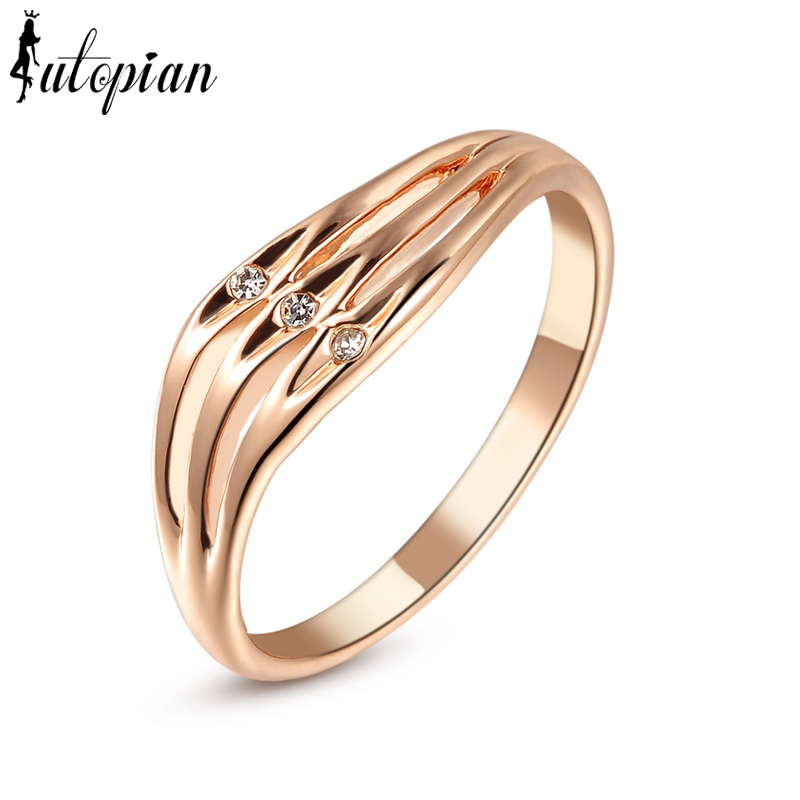 Iutopian brand fashion engagement ring made with austrian for Best quality wedding rings