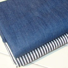 Denim fabric / pure cotton / black and white striped / blue NO stretch DIY clothing pants fabric sewing material free shipping(China (Mainland))