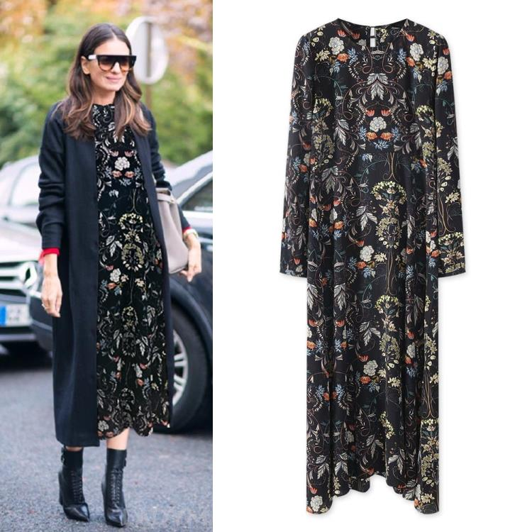 2016 Spring and summer floral long dress large size women fat MM European and American fashion casual chiffon dress(China (Mainland))