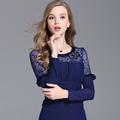 Lace shirt 2016 Autumn Tops Tshirt Vetement femme Camiseta Poleras de mujer Alien New Plus size