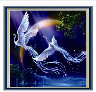 New 5d diy diamond painting animals phoenix cross stitch round rhinestone pictures of crystals embroidery patchwork F299(China (Mainland))