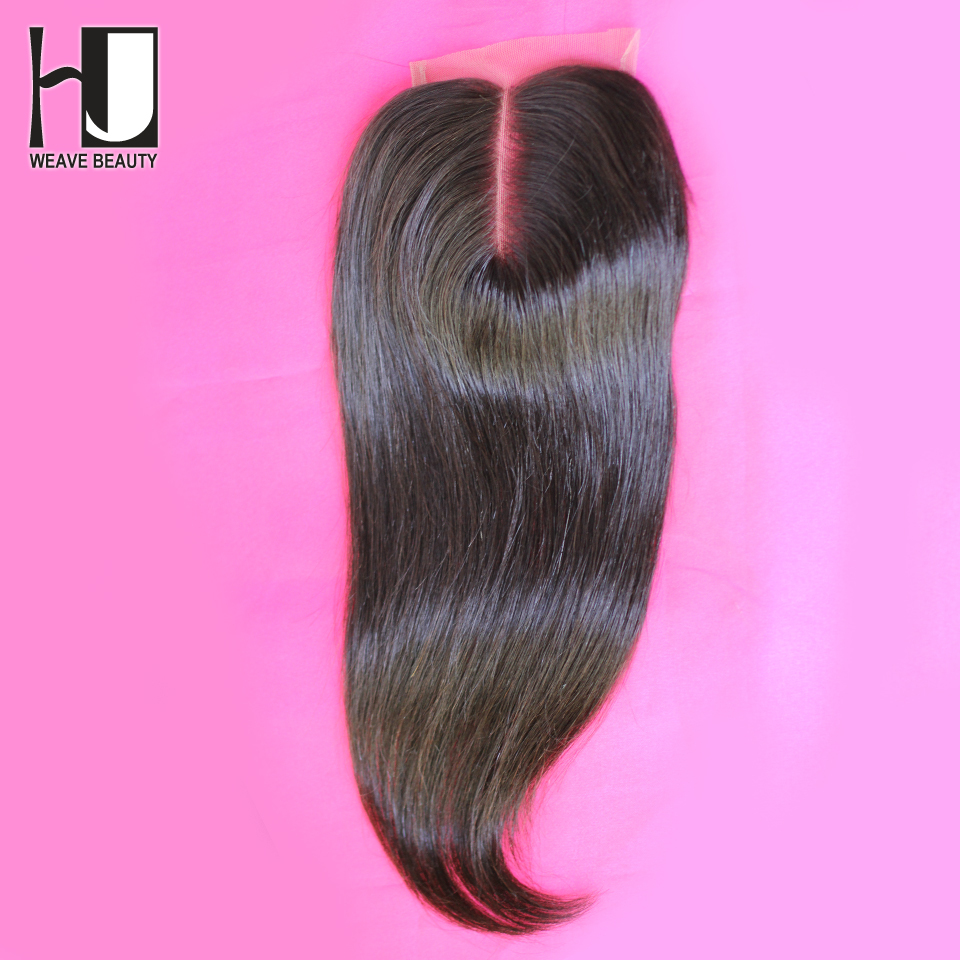 Middle/Free/Three Part Lace Closures Brazilian Hair Straight Bleached Knots Swiss Lace HJ Hair Products Shipping Free(China (Mainland))