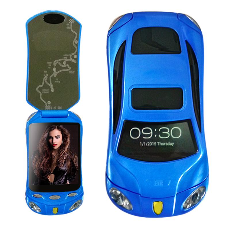 Newmind F16 Flip unlocked smart car phone dual sim card Android wifi bluetooth2.0 FM mp3 mp4 car model mini mobile phone P434(China (Mainland))