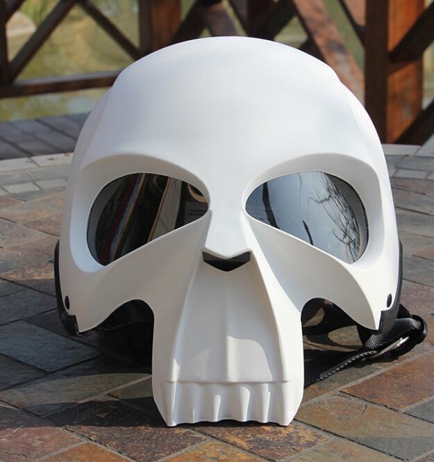 Free Shipping AMZ Skull Motorcycle Helmet/Halley Horrible Fashionable Retro Vintage Safety Popular Cool Skeleton Helmet(China (Mainland))