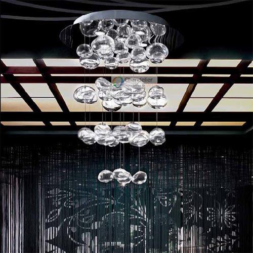Aliexpress.com : Acquista Altezza 100 cm murano due bubble lampadario ...