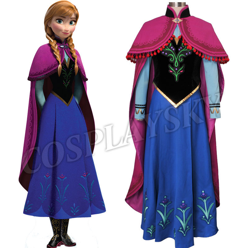 Frozen Anna Cosplay Costume Princess Anna Costume SetОдежда и ак�е��уары<br><br><br>Aliexpress