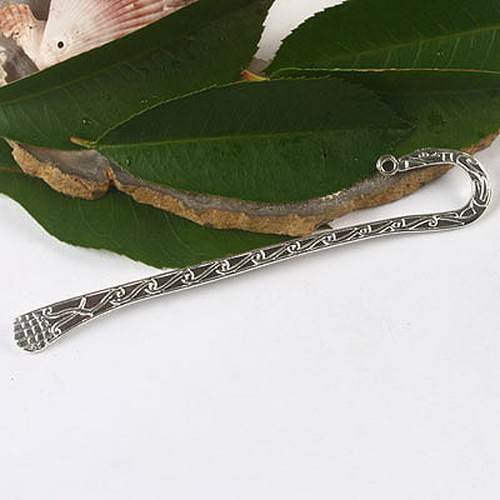 10pcs Silver -tone 2sided pattern Crafted Bookmark h2567(China (Mainland))