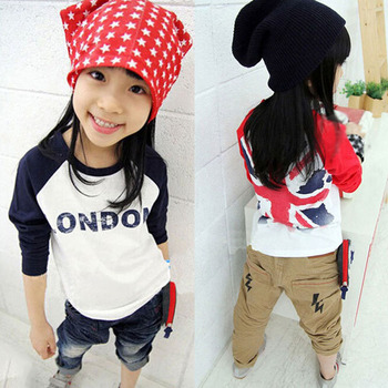 Girl Tops Kid Long Sleeve T-shirt Cotton Children Clothes Shirt Toddler 2-7Y