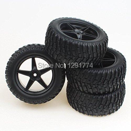 RC 1:10 Off-Road Vehicle Wheel Rim Rubber Tyre Tire Black 5 Stars Wheel Hub(China (Mainland))