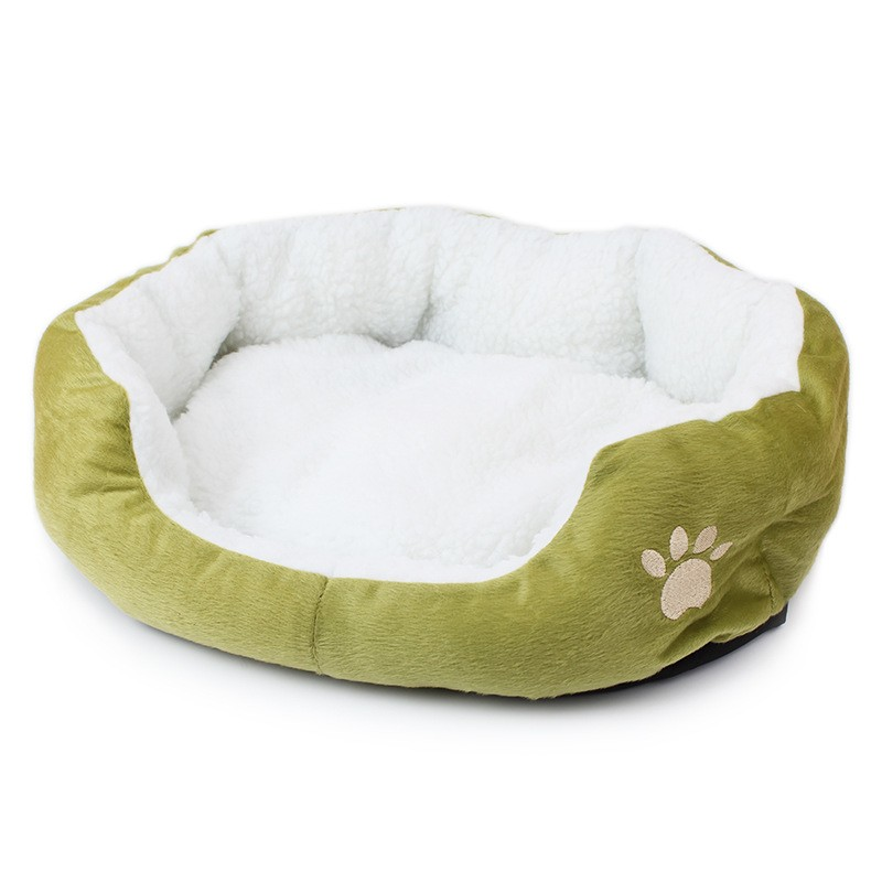 High Quality Small Fleece Cute Paw Print Pet Dog Cat Kennel Puppy Dog Cat Bed Indoor house Dog Cat Mat(China (Mainland))