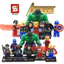 SY167 Fantastic Four Action Figures Minifigures Building Blocks  Marvel Super Hero Human Torch Invisible Woman Thing Ben Bricks(China (Mainland))