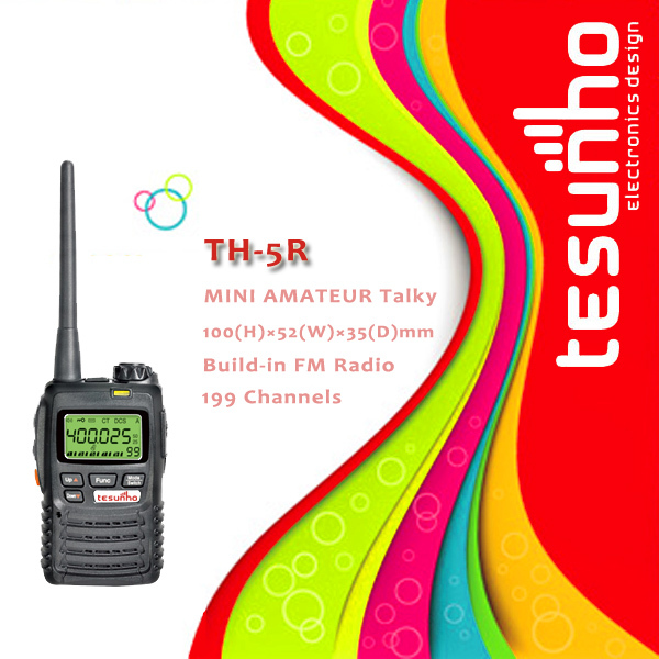 TESUNHO TH-5R long range compact pc programmable 5w hand held kids fm transceiver(China (Mainland))