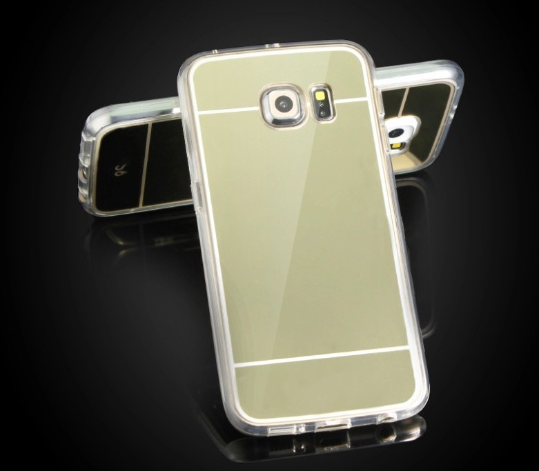 Ultra-thin TPU Fashion Mobile Phone Case For Samsung Galaxy S6 Mirror Cover Luxury Acrylic Back Cover(Hong Kong)
