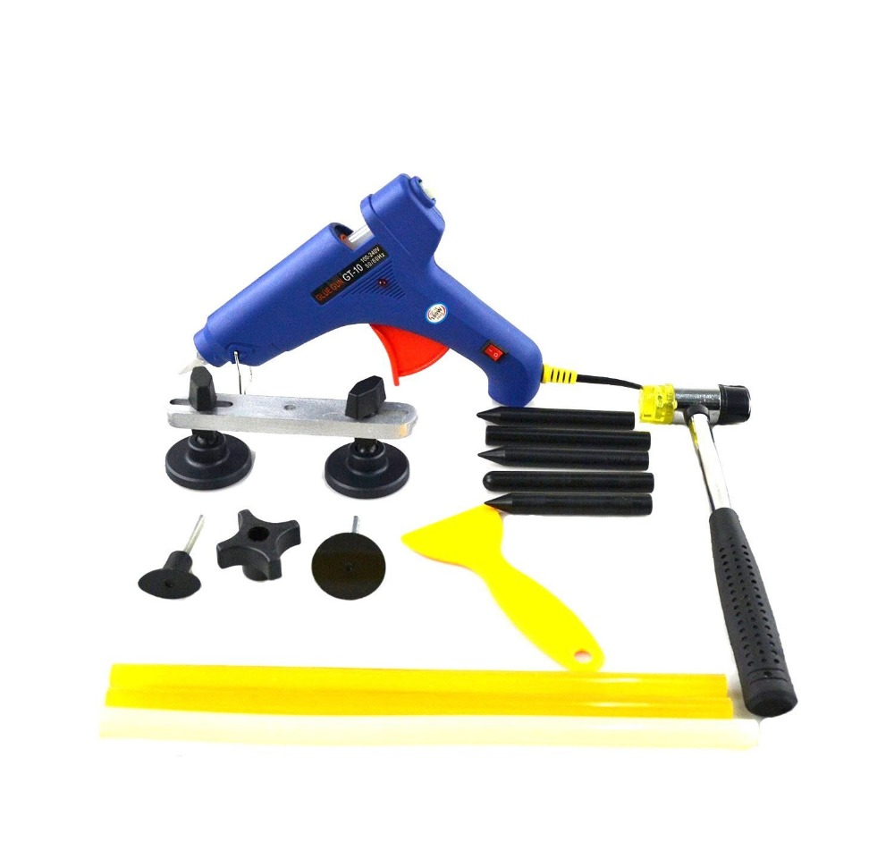2016 Newly PDR Tools - Hot Melt Glue Gun With Glue Sticks Tap Down Pen - Auto Body Paintless Dent Removel Repair Tools Set<br><br>Aliexpress