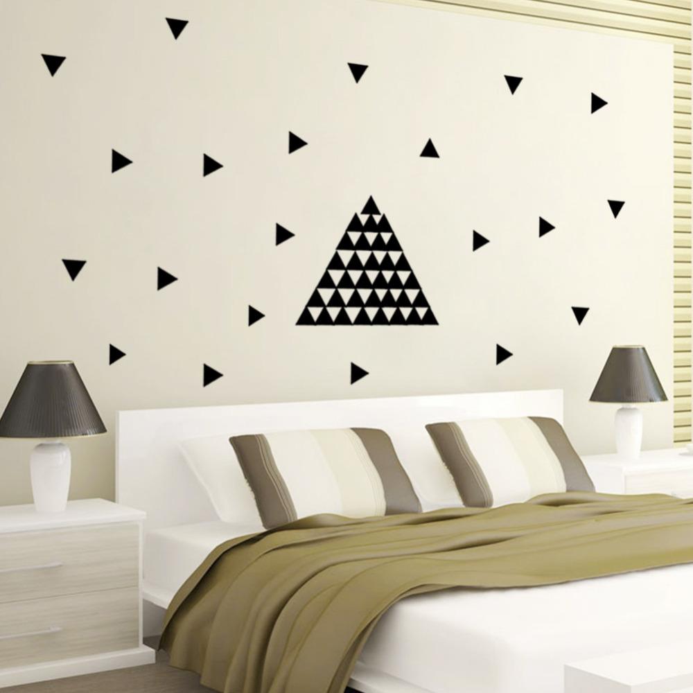 triangles wall stickers black diy modern vinyl wall art mesleep god design black wall sticker buy mesleep god