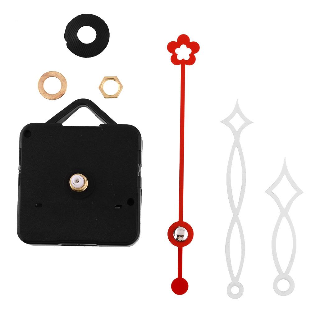 New White and Red Hands Quartz Clock Movement Mechanism Parts Repair Replacing DIY Set Quiet Silent(China (Mainland))
