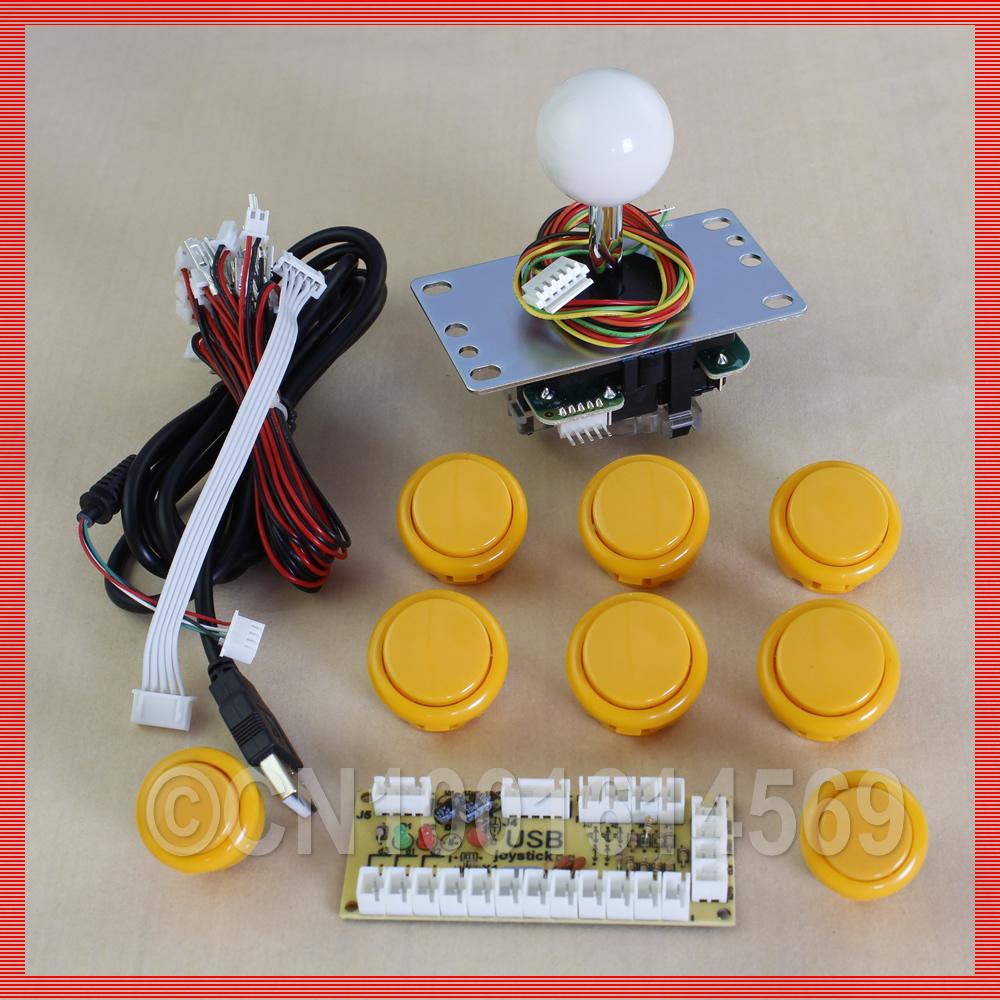 Запчасти для игровых автоматов DIY + SANWA jlf/tp/8yt + 6 30 JLF-TP-8YT original brand new jlf tp 8yt sanwa joystick for arcade jamma game 12 colors available