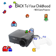 8bit video game Projector 180 games built in with 2 gamepad support 2nd player(China (Mainland))