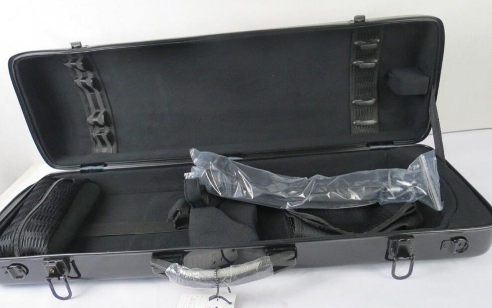 High Grade violin case hard fiberglass 4/4 violin case with two hand holder(China (Mainland))