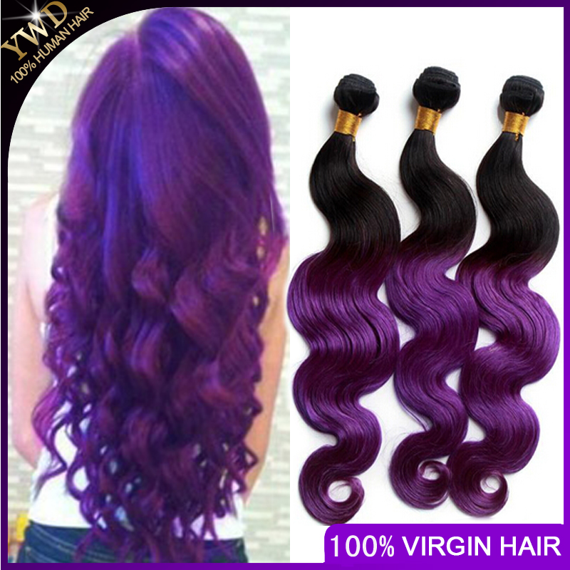 6A ombre peruvian hair extensions cheap ombre purple peruvian virgin hair 4 bundles ombre peruvian wet and wavy human hair <br><br>Aliexpress
