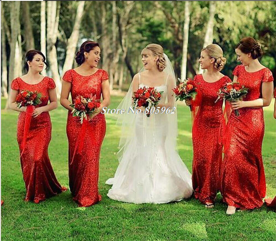 Red long sleeve wedding dresses bridesmaid dress images red long sleeve wedding dresses bridesmaid ombrellifo Choice Image