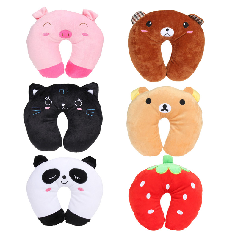 Travel Neck Pillow Multi-Color Cartoon U Shaped Pillow Comfortable Neck Support Head Rest Cushion(China (Mainland))