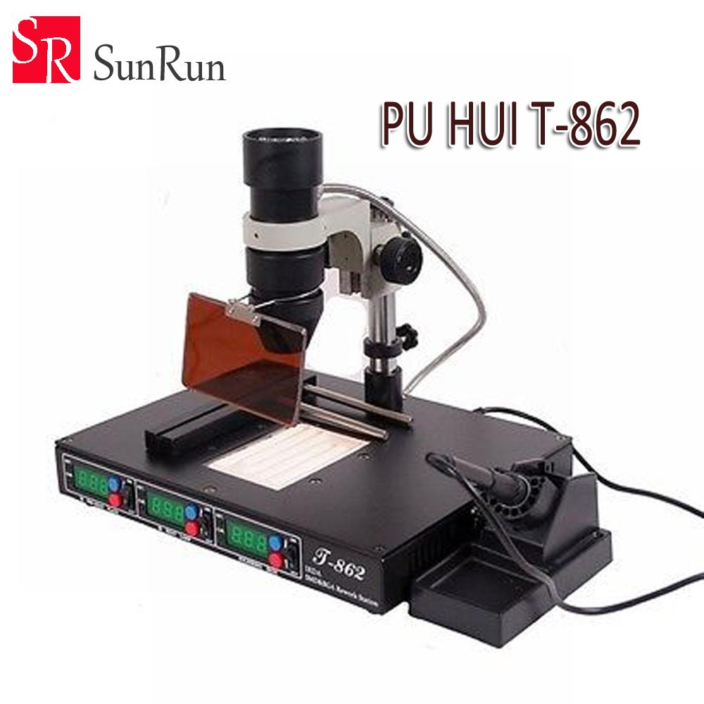 Hot Selling PUHUI T862 IRDA Infrared Bga Rework Machine, BGA SMD SMT Desoldering Rework Station(China (Mainland))