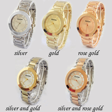 2016 Hot Sale Top Brand Womens Watches Stainless Steel Strap Alloy Quartz Watches Wholesale Relogio Feminino Dress Clock Hours